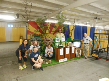 Grange members set up for Fair Week.